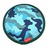 Beskie Oxford Dog Flying Disk Squeeze Toy for For Small Medium Large Dogs Durable Pet Flying Discs Flyer Tooth Resistant Toys for Outdoor Indoor Training Flight-Blue 8''