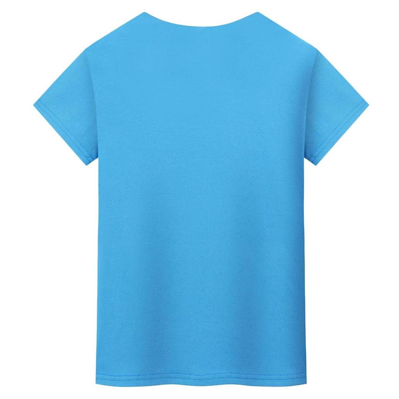 MRULIC Damen Fashion Casual Solid T-Shirt mit Kurzen Ärmeln Tops ...