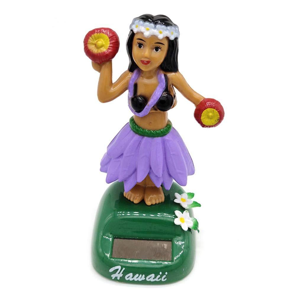 Hawaii Girl Car Solar Powered Dancing Animal Swinging Animated Bobble Dancer Car Hawaii Girl Solar Powered Bobble Head Toy