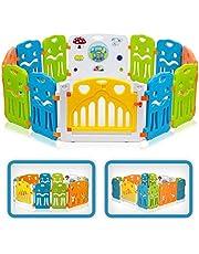 Baby Vivo Looprooster voor baby's, met deur en speelgoed, kleur