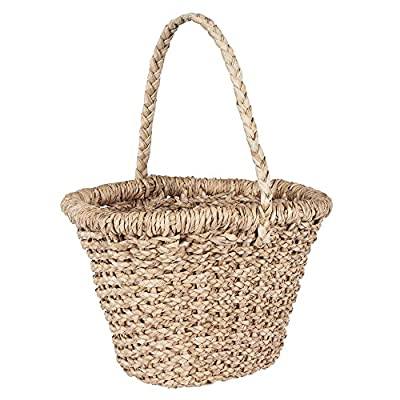 Household Essentials Large Wicker Basket for Storage with Oversized Handle, Light Brown - Large Wicker basket with long handle making it perfect for carrying Handwoven from water hyacinth Use it to store your blankets and pillows around the house - living-room-decor, living-room, baskets-storage - 51cBDFjIRZL. SS400  -