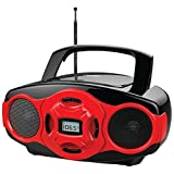 NAXA NPB-264 RE Portable CD/MP3 Mini Boom Boxes & USB Player (Red) electronic consumer