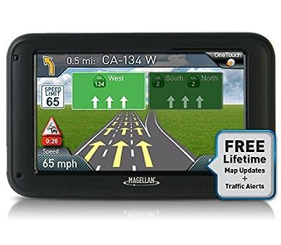 "Magellan RoadMate 5230T 5"" Touchscreen GPS Navigation & Lifetime Maps/Traffic (Certified Refurbished)"