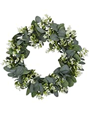 Outgeek Artificial Wreath Creative Lifelike Eucalyptus Hanging Wreath for Wedding Party