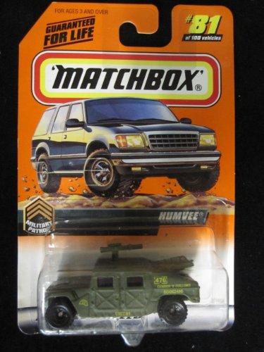 Humvee (Green) Matchbox Military Patrol Series (Humvee Military Green)