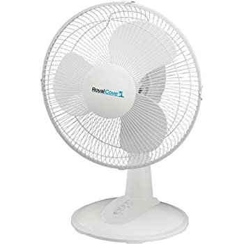 Royal Cove 2477856 3-Speed Oscillating Table Fan, 12