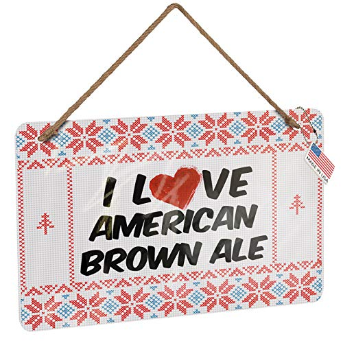 NEONBLOND Metal Sign I Love American Brown Ale Beer Vintage Christmas Decoration
