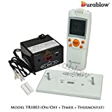 Durablow TR1003 Gas Fire Fireplace On/Off Remote Control Kit with Thermostat and Timer (On/Off + Timer + Thermostat)