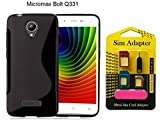 Micromax Bolt Q331 Back Case Cover + Metal Sim Card Adapter (Mega Offer)