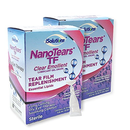 Nanotears TF Preservative-Free Dry Eye Drops - Relief in Seconds, Nano Technology Less Blurring and Longer Lasting, 64 Total Vials (Vials Preservative Free)