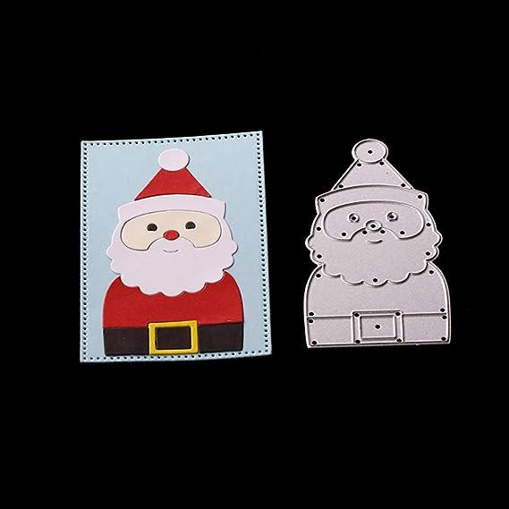Feida - Troqueles de corte, diseño navideño de Papá Noel de Navidad, troqueles de corte de metal, tarjetas de papel de scrapbooking Santa Claus: Amazon.es: ...