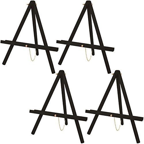 US Art Supply 16 inch Tall Tripod Easel-Pine Wood-Painted Bl
