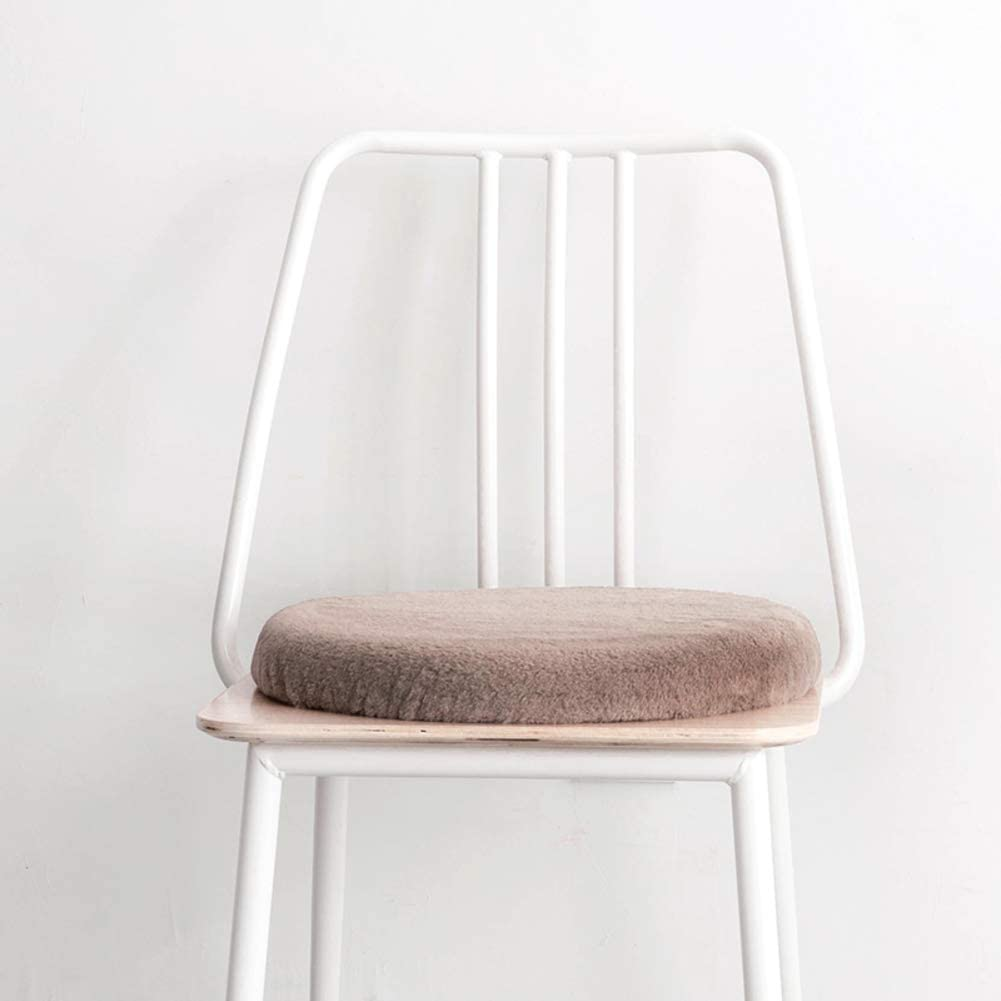 YUSE Plush Seat Cushion, Nordic Warm Plush Thick Slip Chair Cushion,Home Tatami Balcony Dining Chair Office Chair Pads-a 40x40x5cm(16x16x2inch)