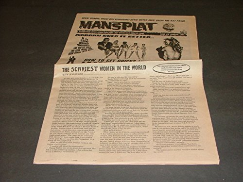 Mansplat Newspaper #6 Sunday, 1996 How To Get Chicks, Bathroom Litter-ature