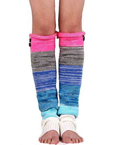 Long Knit Leg Warmers (Superbaby Women's Boho Knitted Warm Long Leg Warmers)