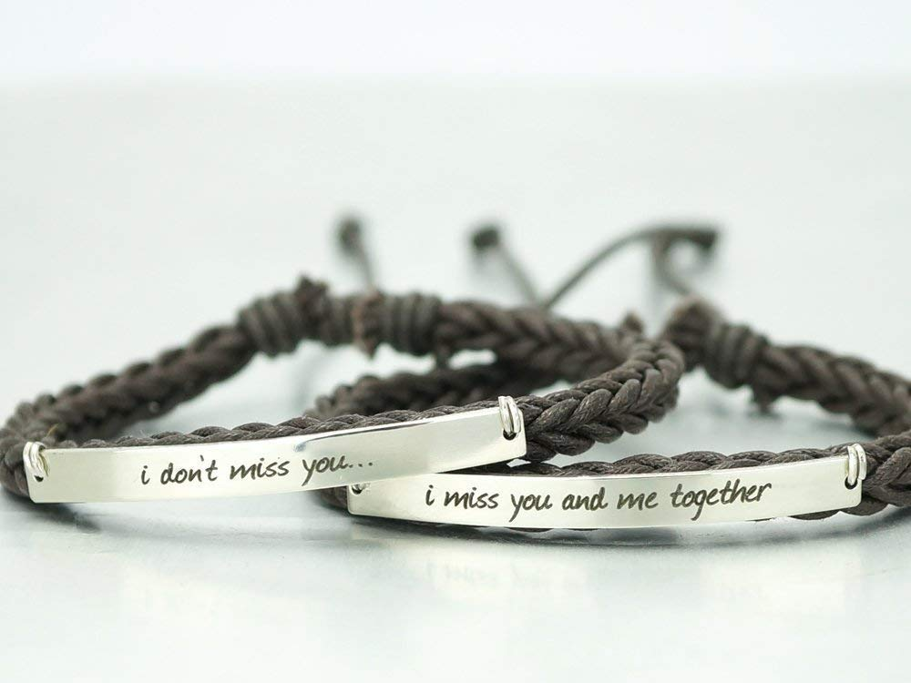 Personalized Phrase Bracelets