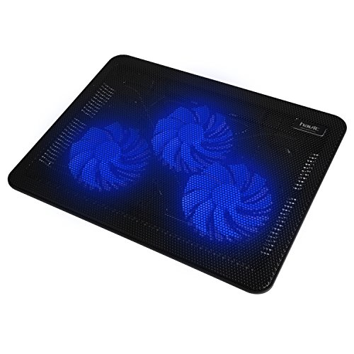 HAVIT HV-F2056 15.6'-17' Laptop Cooling Pad Cooler - Slim Portable USB Powered (3 Fans)