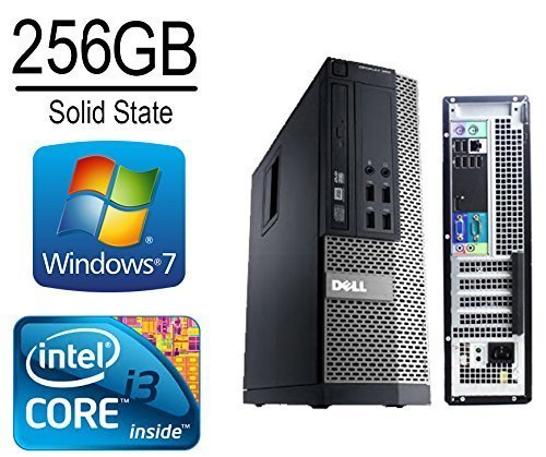 Dell Optiplex 790 Desktop Computer, Intel Core i3 3.1CPU, 8GB DDR3 Memory, 256 Solid State Drive, WiFi, DVD/CD-RW, Windows 7 Pro 64-Bit (Certified Refurbished) (Ddr3 Ssd)