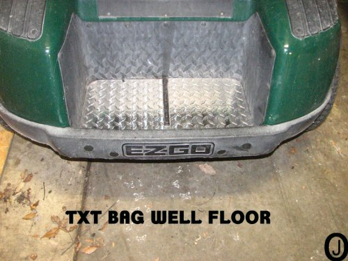Ez-Go TXT Diamond Plate Bagwell Floor Cover