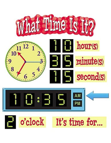 (Teacher Created Resources What Time is It? Mini Bulletin Board (4876))