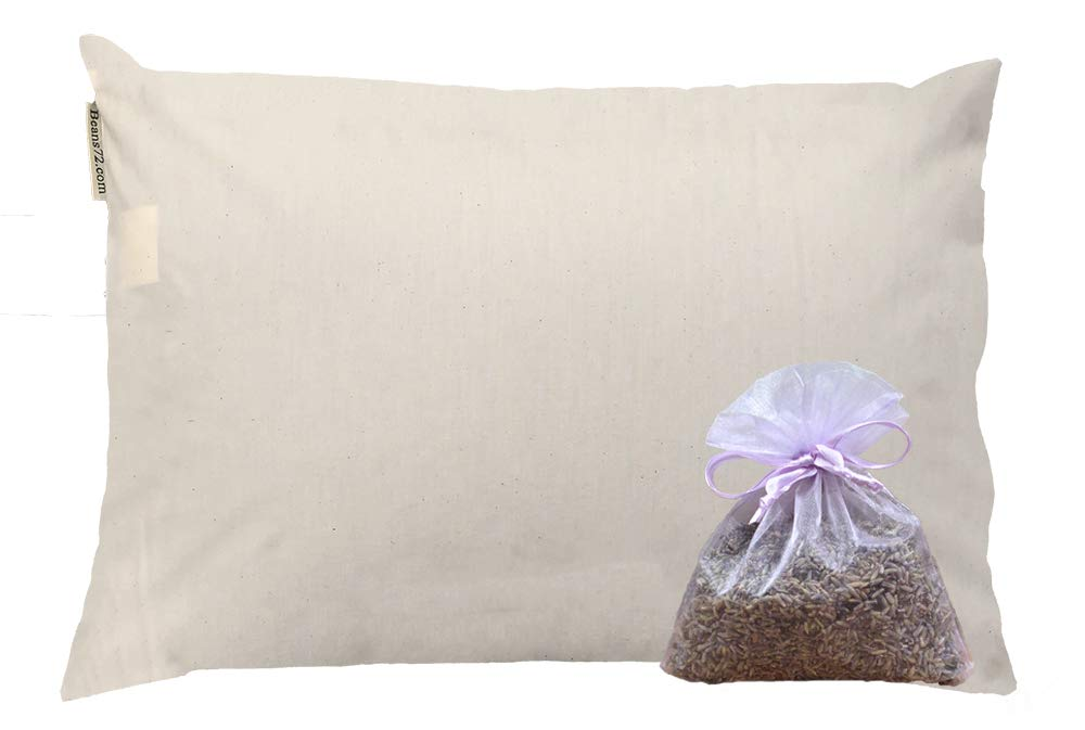 Beans72 Organic Aromatherapy Buckwheat Pillow - King Size (20 inches x 36 inches)