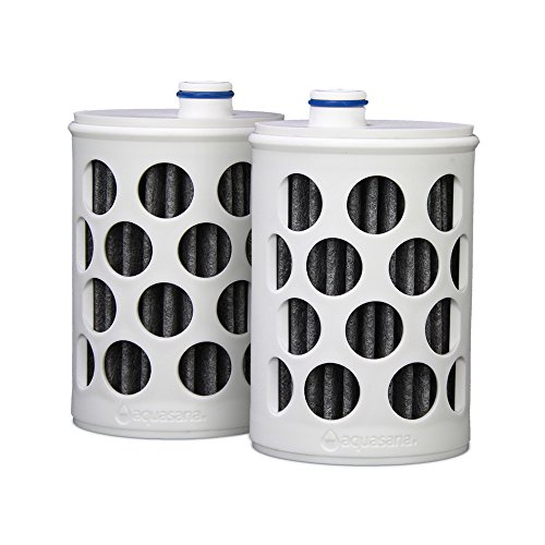 Aquasana Replacement Filter Cartridges for Aquasana Clean Water Bottle, 2-pack Aq 4100 Shower Filter