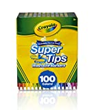 Crayola Super Tips Washable Markers, Gift Age 3+ - 100 Count: more info