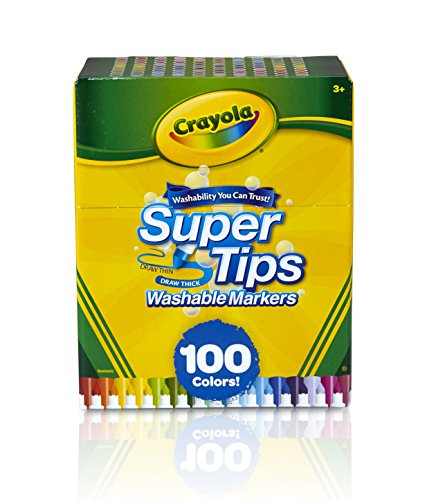- Crayola Super Tips Washable Markers, 100 Count, Bulk, Great for Kids