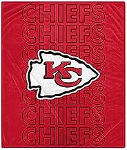 Pegasus Sports NFL Echo Team Wordmark Plush Blanket- Kansas City Chiefs