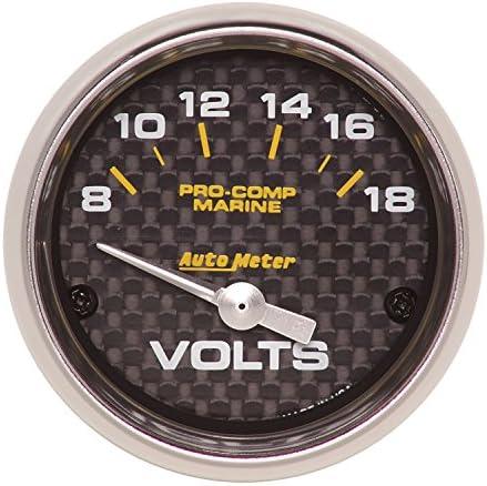 Auto Meter AutoMeter 200762-40 Gauge 100-250/ºf Electric Water Temp 2 1//16 Marine Carbon Fiber
