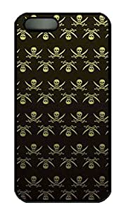 Y Skull Customized Popular DIY Hard Back Case Cover For iPhone 5 5S Soft Black