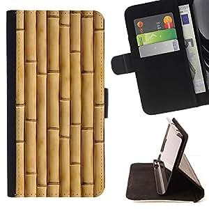 For Samsung Galaxy Note 4 IV Case , Beige Natural Naturaleza Madera- la tarjeta de Crédito Slots PU Funda de cuero Monedero caso cubierta de piel