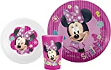 Zak Designs Mickey & Minnie Mouse Plate, Bowl & Cup Gift Set, Minnie Mouse
