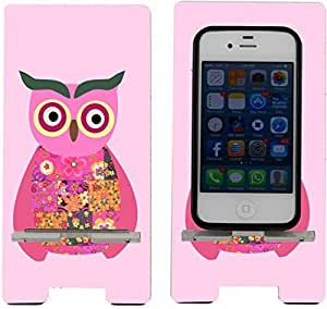 Rikki KnightTM Pink Owl Patchwork - Smart Cell Phone Holder Charger Stand for iPhone 4/4s/5/5s/5c, Motorola Moto X, Galaxy S3/S4/S5/Note 3/Ace 2, LG Optimus Gpro/G2/L3/4X HD, Sony Xperia Z1S/U, HTC Droid/One/One X/Pro/mini, Blackberry G10/Z10, Nexus 4/5,
