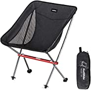 Naturehike Portable Camping Chair - Compact Ultralight Folding Backpacking Chairs, Small Collapsible Foldable