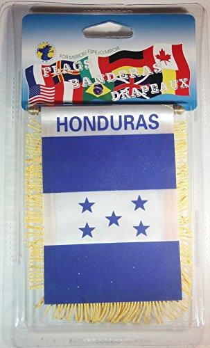 """Honduras Flag Rear View Mirror Mini Banner 4""""x 5.5"""""""