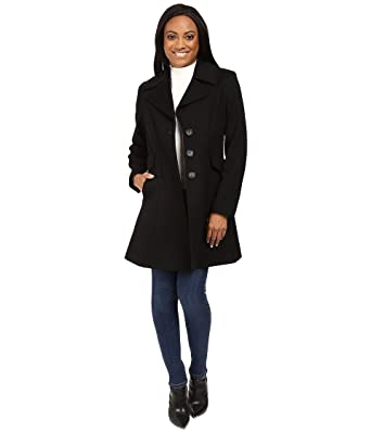 Pendleton Women's Petite Fit and Flare Coat Black Outerwear at ...