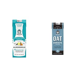 Califia Farms - Shelf Stable Almond Milk, Unsweetened Vanilla, 32 Oz (Pack of 6) & Oat Milk, Unsweetened Barista Blend, 32 Oz (Pack of 6)   Shelf Stable   Non Dairy Milk   Creamer   Vegan
