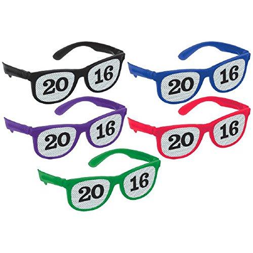Multicolor 13.3 X 6 TradeMart Inc 13.3 X 6 10 Piece 250518 Amscan Graduation Party 2016 Printed Glasses