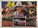 Jeff Gordon Richard Petty Dale Earnhardt Unsigned 18x24 Poster Nascar
