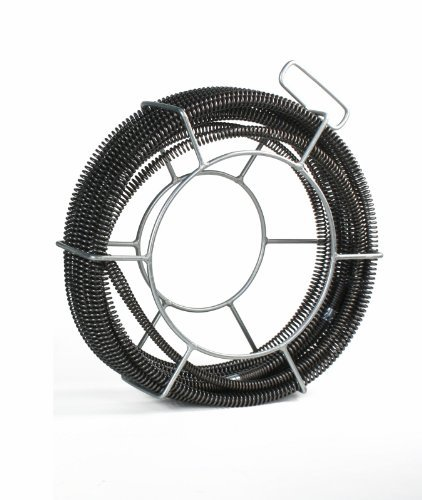 K1500 Drain (SDT C10 Sectional Drain Cable 7/8 x 45' fits RIDGID K1500 with A8 Carrier by Steel Dragon)