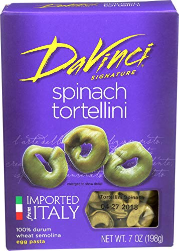 DaVinci Spinach Tortellini Pasta, 7-Ounces (Pack of 12)