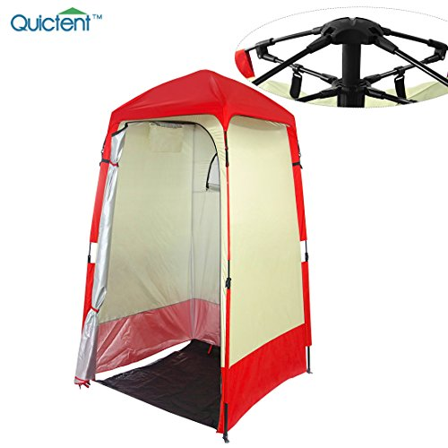Quictent Automatic Rod Bracket Shower Tent/Changing/Toilet Room Shelter Outdoor Waterproof and Anti-UV with Carry Bag (Red)