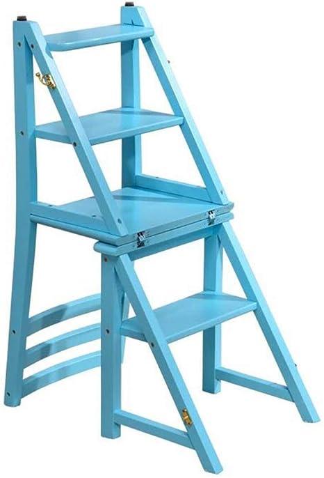 Taburete de Asiento Escalera de Almacenamiento Taburete/Escaleras de Tijera Taburete de Paso Silla de la Escalera del Hogar Asientos Escalonados Escalera Plegable Estante de Doble Uso Taburete Alt: Amazon.es: Deportes y aire