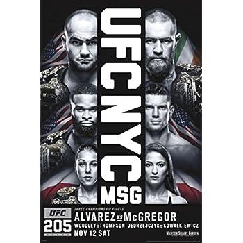 Amazon.com: UFC 205 Eddie Alvarez Vs Conor McGregor Sports Poster ...