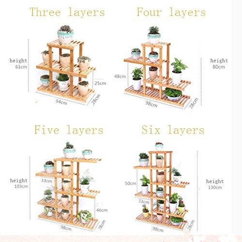 Balcony flower rack / multi-storey stand / pastoral style pot shelf ( Size : 90cm28cm80cm ) by Flower racks - xin
