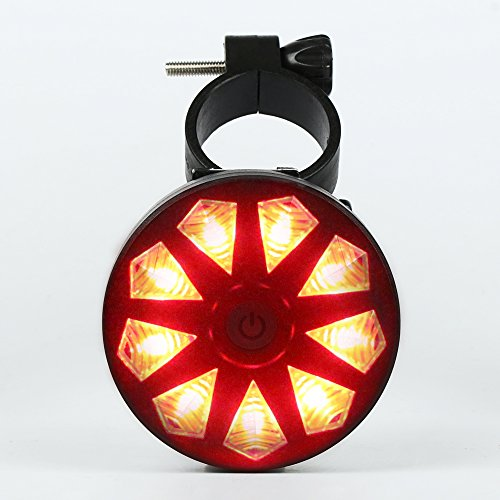 Price comparison product image ThorFire Ultra Bright Bike Rear Light 3 Mode LED Bike Tail Light 220-Degree Red High Intensity Bicycle Rear Light Easy Install on Any Road Bikes for Optimum Cycling Safety