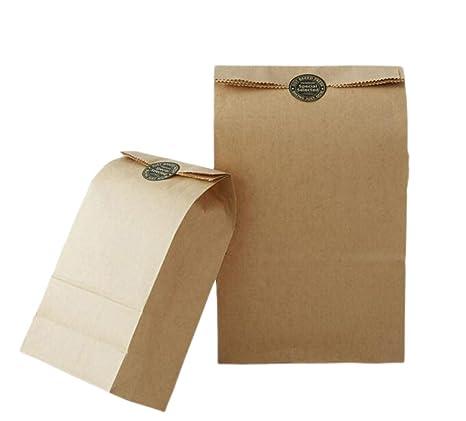 20 pcs 6 x 4 x 11,75 pulgadas marrón Kraft bolsa de papel ...