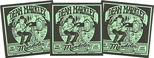 (LOT of 3 SETS, Dean Markley 2402 Mandolin Phosphor Bronze Light 11-37 USA)