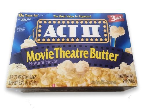Act Ii Movie Theater Butter Microwave Popcorn   Pack Of 3